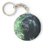 Black Panther Cat  Keychain