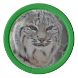 Creeping Bobcat Set Of Poker Chips