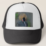Curious African Crowned Crane Trucker Hat