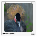 Curious African Crowned Crane Wall Sticker