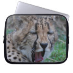 Sleepy Cheetah Cub Laptop Sleeve