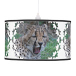 Sleepy Cheetah Cub Pendant Lamp
