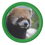 Sweet Red Panda Bear Set Of Poker Chips