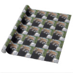 Sweet Red Panda Bear Wrapping Paper